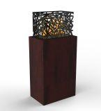 Grand Mahogany Impressions Fireplace Laguna Side Table With Aqua Flame Cartridge
