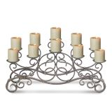 Brighton Candelabras - Holds 10 Candles (Not Included)- Antique Gold