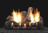 """30"""" Charred Oak Logset with MV Vented Slope Glaze Burner, NG"""