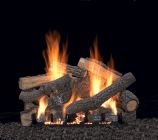 "30"" Ponderosa Logset with MV VF/V Slope Glaze Burner, LP"