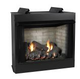 Deluxe 36 VF LF Firebox, Ponderosa Logset & Slope Glaze Burner - NG