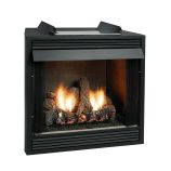 Premium 42 VF FF Firebox, Birch Logset & MV Slope Glaze Burner - LP