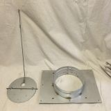 Anchor Plate/Damper for Masonry Chimney - 14 inch