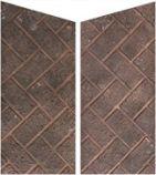 Red Herringbone Brick Side Panels