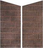 Red Straight Brick Side Panels