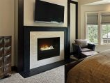 """Home Fire Custom Built-In 36"""" Electric Firebox with Black Glass Front"""
