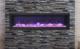 """Deep Indoor/Outdoor Electric Fireplace with Black Steel Surround - 60"""" Model VISTA-BI-60-12"""
