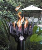 Cast Aluminum Malumai Style Automated Tiki Torch with ALU Pole - NG