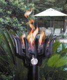 Cast Aluminum Malumai Style Automated Tiki Torch with Bamboo Pole - NG