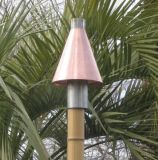 Copper Cone Series Automated Tiki Torch with Bamboo Pole - LP