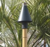 Black Cone Series Automated Tiki Torch with Bamboo Pole - LP