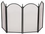 "4 Fold 25"" H Black Screen By Uniflame"