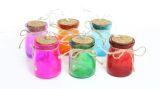 Multi Color Glass Jar Light Decor With 3 LED Lights- Set of 6