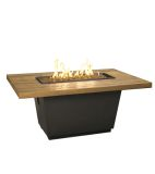 French Barrel Oak Cosmopolitan Rectangle Firetable - Natural Gas