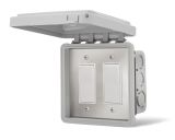 Dual On/Off Switch Flush Mount with Gang Box - 20 Amp Per Pole