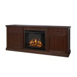Cassidy Entertainment Unit with Electric Fireplace - Chestnut Oak