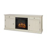 Cassidy Entertainment Unit with Electric Fireplace - Distressed White