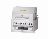 """30"""" Outdoor Built-In Grill with Roll Dome, Bun Rack and Cover - LP"""