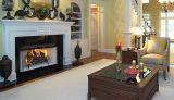 """Superior 36"""" Radiant Wood Burning Fireplace w/White Herringbone Panels"""
