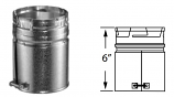 Duravent 8GVAM Round Gas Vent 8 Inch Male Adapter