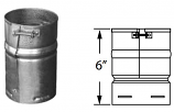 Duravent 8GVAF Round Gas Vent 8 Inch Female Adapter