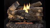 """Superior 24"""" Massive Mixed Oak Gas Log Set w/TF2430 Elec. Burner - NG"""