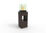 Vertikal Bio Ethanol Fireburner Stand And Display Unit In Espresso
