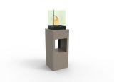 Vertikal Bio Ethanol Fireburner Stand And Display Unit In Latte
