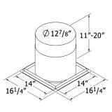 Shasta Vent 8A-FS Firestop Radiation shield