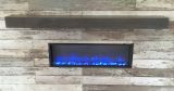 "60"" Linear Supercast Wood Mantel-Polished Midnight Mist"
