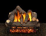 """24"""" Cheyanne Glow Logs w/Double Pilot kit Burner Tube & Remote - NG"""