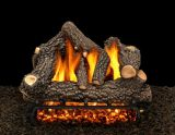 "24"" Cheyanne Glow Logs with Double Burner and Variable Flame Remote Ready NG"
