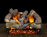 """30"""" Seville Charred Logs with Double Burner and Variable Flame Remote Ready, NG"""