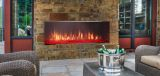 Lanai Outdoor Single-Sided Linear Fireplace w/Intellifire System