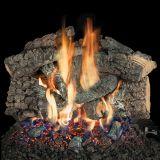 """18"""" Bedford Char Logs w/Elec. Variable On/Off Ignition Burner - LP"""