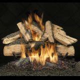 """24"""" Elegant Charred Split Oak Logs w/Safety Pilot Burner - NG"""