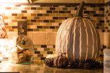 Pumpkin Luminary (TALL WHITE) By Desert Steel
