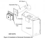 Majestic Horizontal Vent Termination Kit for DVP Series