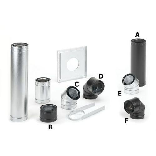 "DuraVent 4"" x 6-5/8"" DirectVent Pro Black Pipe 60"" Length"