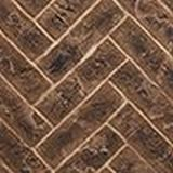 "Majestic 42"" Herringbone Brick Interior Panels in Tavern Brown"