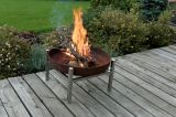 Curonian Parnidis Solid Steel Tall Fire Pit