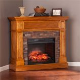 Rosedale Corner Infrared Electric Media Fireplace - Sienna