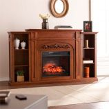 Chantilly Bookcase Infrared Electric Fireplace - Autumn Oak