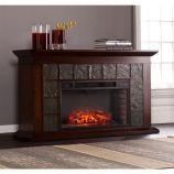 Southern Enterprises Newberg Electric Fireplace - Warm Brown Walnut