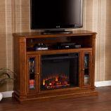 Southern Enterprises Atkinson Media Fireplace - Rich Brown Oak