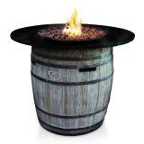 Jaytrends 9714 Granite Top Wine Barrel Fire Table