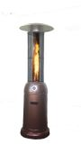 SUNHEAT 3/4 Flame Round Propane Patio Heater - Golden Hammered