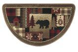 Oriental II 10490 Bear Pattern Half Round Rug