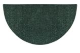 Flame Polyester Half Round Rug - Green