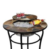 Deeco DM-13002H Rock Canyon Classico Bar Table